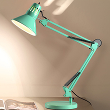 Modern 6 color Long Swing Arm Nordic style adjust Desk Lamps E27 Led Table Lamp for Office Reading Light Home Lampe living room(China)