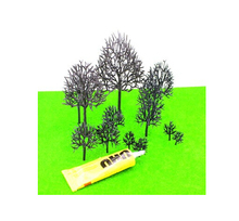 1000PCS model making architecture each size ho, n ,g scale model train layout miniature plastic model tree arm(China)