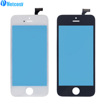 Netcosy Touch Screen Digitizer + Frame for iPhone 5 5G Touchscreen LCD Front Touch Panel Glass Lens Cheap Phone Accessories(China)