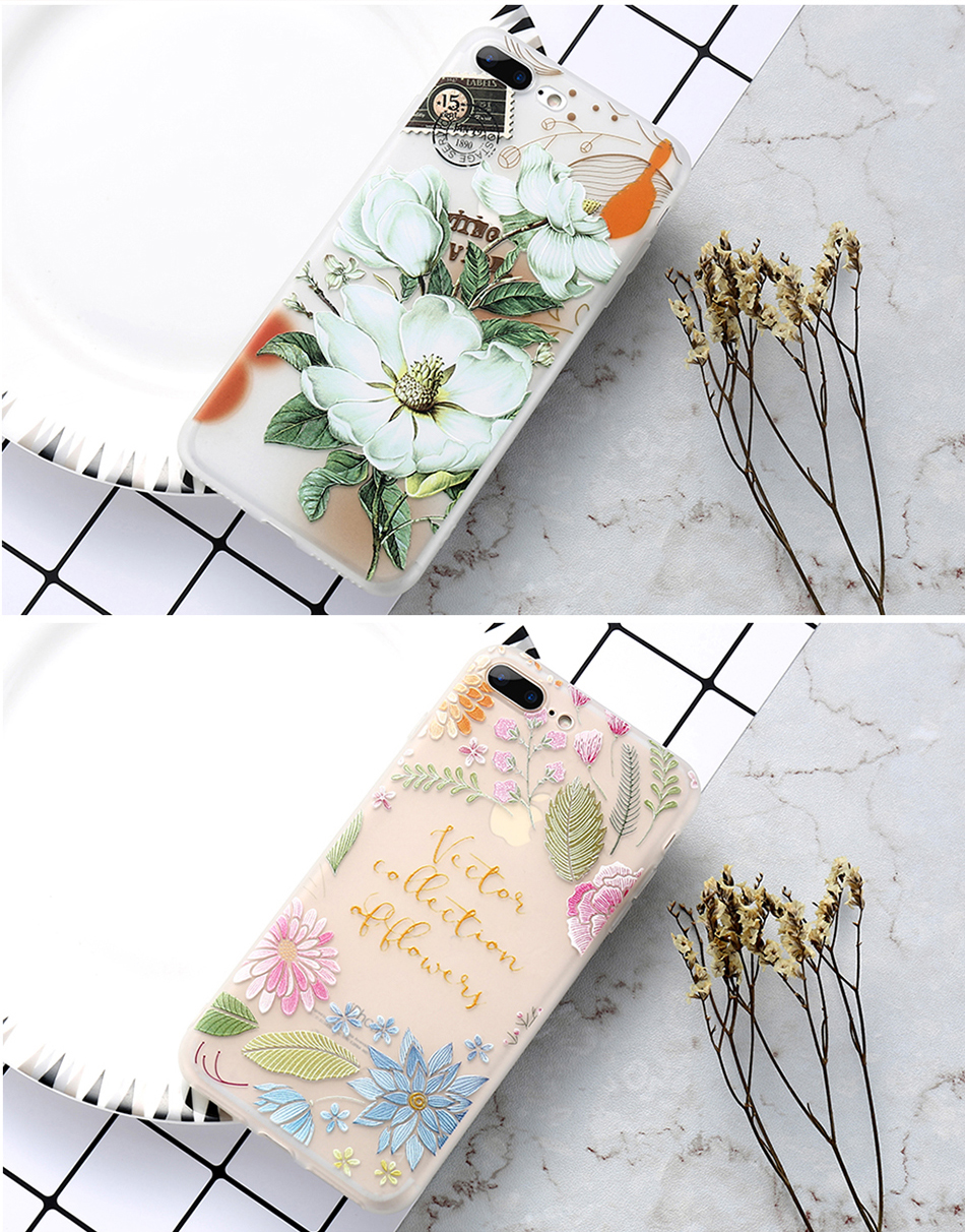 flower patterned case for iPhone 6 6s 7 Plus (10)
