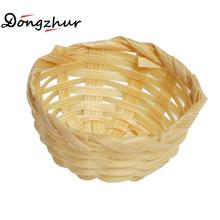 Dongzhur Dollhouse Miniatures 1:12 Accessories Abamboo Baskets Bath Supplies Pure Dollhouse Miniature Handmade Bamboo Baskets(China)