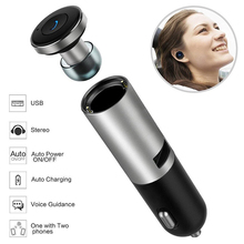New Design Earphone With Car Charger 2 in 1 Car Charger Single USB Port with Wireless Bluetooth Earbuds