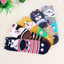 South Korea race dog three-dimensional adult socks couple socks cartoon autumn and winter tube socks and cotton socks