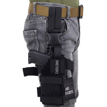 OneTigris Tactical Molle Drop Leg Platform & Handgun Pistol Holster Airsoft Paintball Right Handed Holster(China)