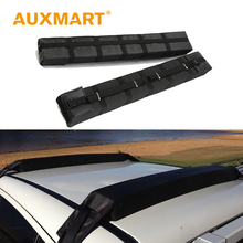 Auxmart Universal Roof Rack Cross Bars 116cm Car Soft Foam Pad Inside Roof Racks Boxes Load Carrier System Cargo 175lbs/80kg(China)
