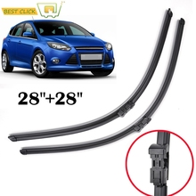 Misima Front Window Wiper Blades For Ford Focus 3 Mk3 2012 2013 2014 2015 2016 2017 Windshield Windscreen Wiper Blades 28''+28''(China)