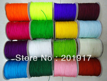 1mm Macrame Rope Shamballa Bracelet Braid Nylon Cords-1500m/5rolls Chinese Knot Beading cord-Jewelry Findings Accessories(China)