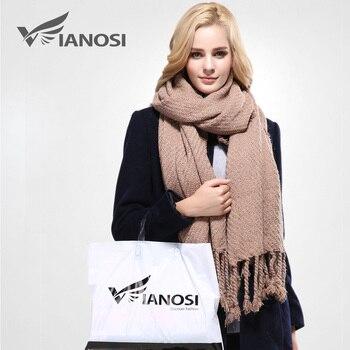 [Vianosi] cachecol projeto o mais novo macio quente marca inverno cachecol xale para as mulheres moda borla engrossar cachecóis longos mulher