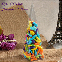 Wholesale Cone Shaped Size:5*5*16cm Thickness:0.25mm Clear PVC Box Packing Gift/Candy Transparent Model Display Box