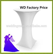 Big Discount !!! nice  Quality  white  wedding spandex lycra cocktail table cover from china Free shipping