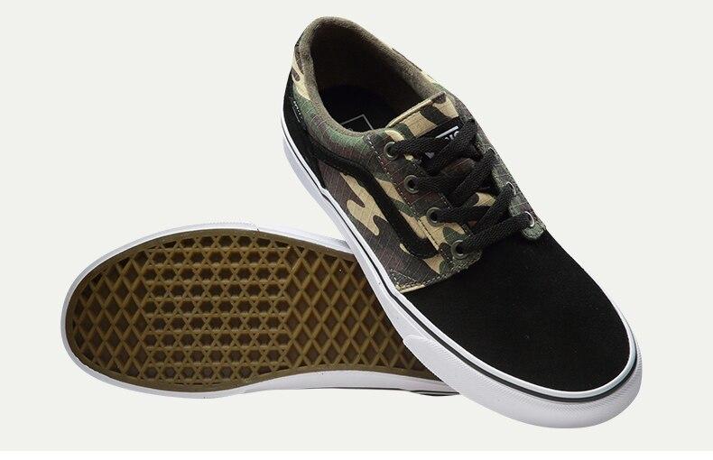Original Vans Black Color Colourful Low-Top Men's Skateboarding Shoes Sport Shoes Sneakers