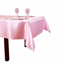 60 x 126 inch Rectangular Satin Tablecloth White/Black Tablecloths Table Cover for Wedding Party Restaurant Banquet Decorations(China)
