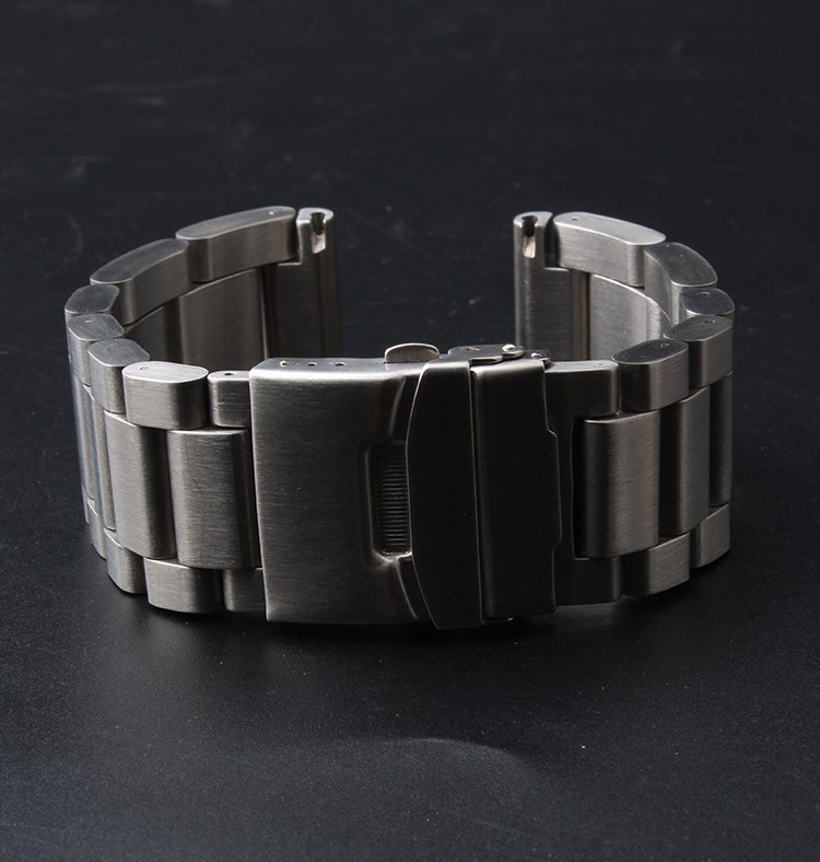 22mm 24mm 26mm New Men Women Silver High Brushed Solid Stainless Steel Watch Band Strap Straight End Bracelet<br>