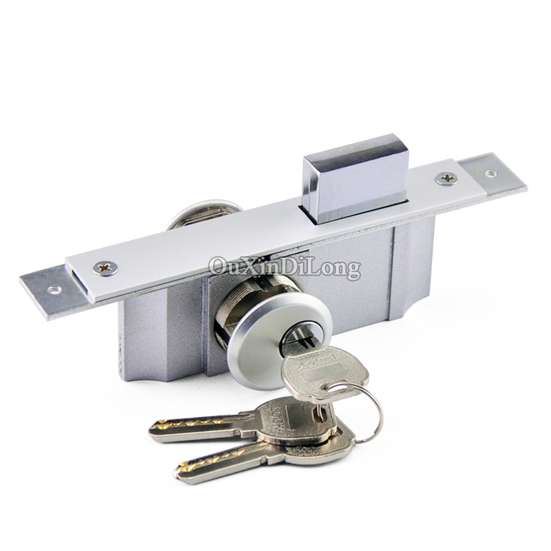 High Quality 2PCS Sliding Door Hook Locks,Invisible/Mortise lock,Frame Glass Door Double Lock Cylinder Lock,Door Hardware<br>
