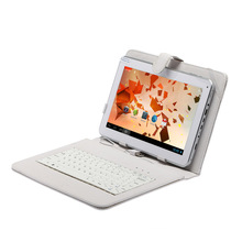 "Free shipping Dual Core Allwinner A20 Cortex A8 android 4.2 6500mah 1GB/8GB camera Dual Cam w/ 10"" Keyboard 10 inch tablet pc(China)"