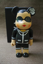 Hot Selling11inch 400% bearbrick luxury Lady CH be@rbrick medicom toy with retail box(China)