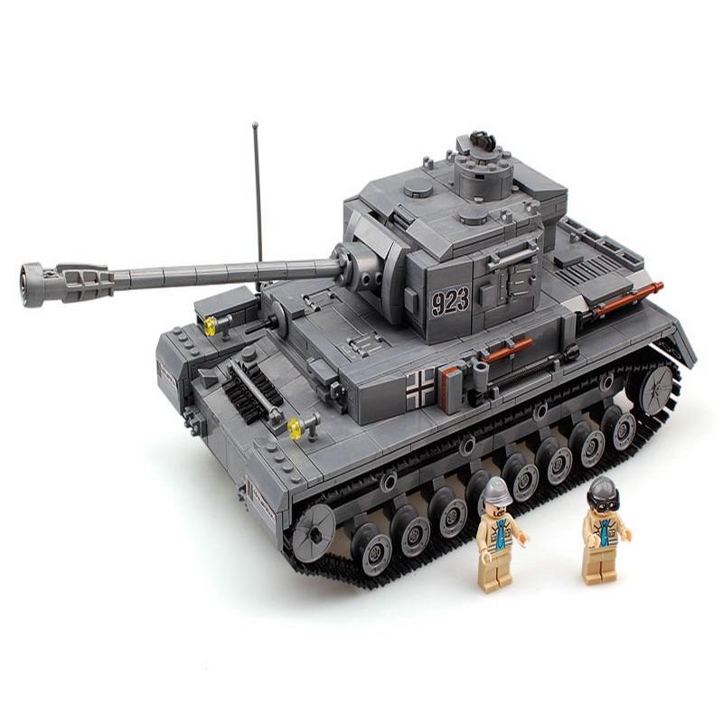1193Pcs German Military Panzer IV War Tank Model Building Blocks F2 Tank Enlighten DIY Figure Gift Toys Children dropshipping<br>