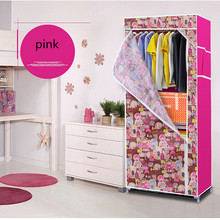 Simple Non-Woven Fabric Wardrobes Clothe Storage Portable Lockers Closet Sundries Dust-Proof Storage Cabinet Furniture Bedroom(China)