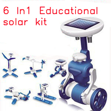 Hot sale New generation of Solar Energy toys Learning Machine Novelty toys Solar Toys 6 in 1 Educational Toys for children Kids