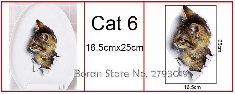 Cats 3D Wall Sticker Toilet Stickers Hole View Vivid Dogs Bathroom Cats 3D Wall Sticker Toilet Stickers Hole View Vivid Dogs Bathroom HTB1a1B6SpXXXXbNXFXXq6xXFXXXU
