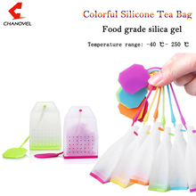 2016 Hot Colorful Tea Bags Silicone Filter Infuser Silica Gel Filtration Leaf Strainers Teaspoon(China)