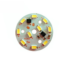 10X New design Integrated IC LED driver 5W 5730SMD with PCB direct connect AC 220V free shipping