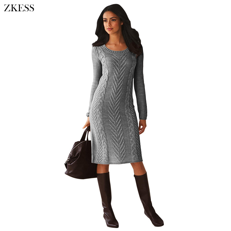 Gray-Women-s-Hand-Knitted-Sweater-Dress-LC27772-11-1