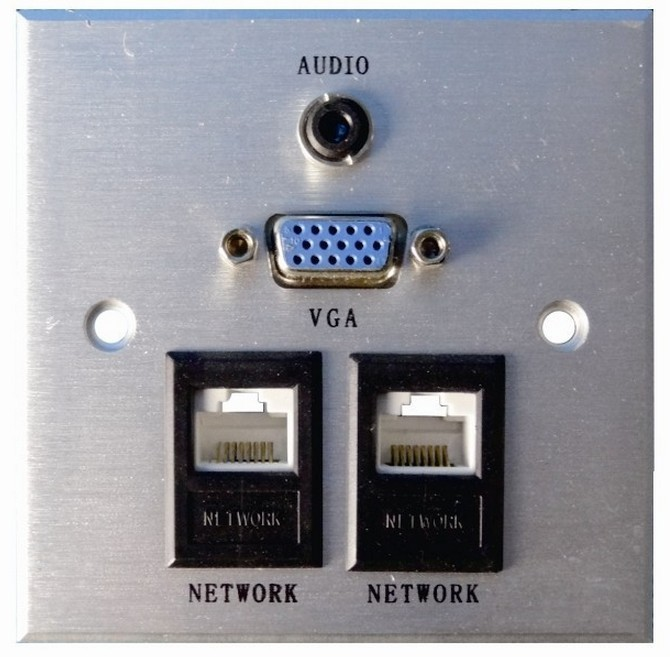 New And High Quality HDMI 3RCA VGA Composite Audio Video Socket Wall Face Plate Panel Outlet <br>