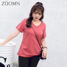 Big Size Female T-shirt Summer Women T Shirt Short Sleeve Women Cotton Korean T Shirts Girls Casual Kawaii Top Tees Clothes Y127(China)