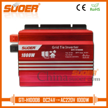 Suoer Solar Power System Home Power Supply 1KW 1000W 24V 220V PV MPPT Solar Grid Tie Inverter(GTI-H1000B)
