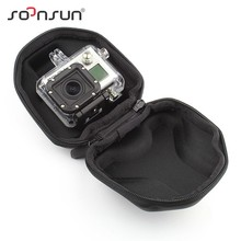 SOONSUN GoPro Accessories Portable Storage Camera Bag Small Travel Protective Carry Case for GoPro Hero 2 3 3+ 4 SJCAM Xiaomi Yi