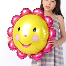 FANTASTIC IDEA Lovely Sunflower Balloon, Cartoon Foil Birthday Party Balloon Child Baby Toys Holiday Blowing Ball Decoration