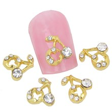 10Pcs/Lot Gold Plated Hollow Cherry 3D Alloy Nail Charm  Stickers&Decals Manicure Women Cheap Nail Gel Wholesale Retail MA0161