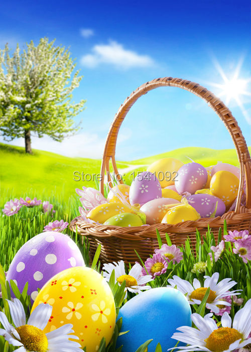 Easter Day photography background for photo studio  vinyl Digital Printing cloth backdrops 150X220cm customized F0012<br><br>Aliexpress