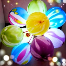 25p 12'' 6 Color 8 g Colorful LED Balloon Light Ball Latex Marble balloon Helium  Clouds Balloons Christmas Decoration Wedding