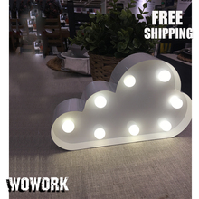 waterproof led letters decorative light up letters  for thanksgiving day illuminated signs  handwork cloud shape light homedecor
