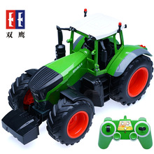 Electric Rc Plastic Trucks Toys 6 Channel 2.4g 1:16 Farm Tractor Toys Engineering Machine Remote Control Model Toys With Battery(China)