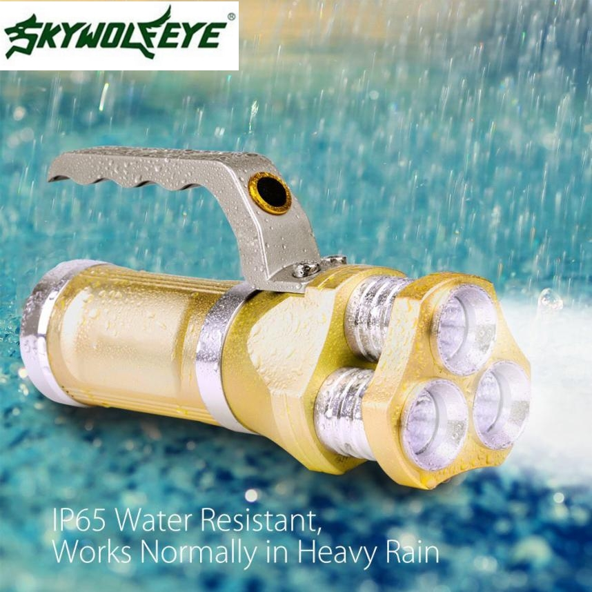 MA 6 Shining Hot Selling Fast Shipping   Rechargeable LED Searchlight Tactical Flashlight 3T6 Spotlight 9000 Lumens<br>