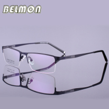 Spectacle Frame Eyeglasses Men Nerd Titanium Alloy Computer Optical Tag Brand Eye Glasses For Male Transparent Clear Lens RS302