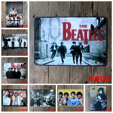 The Beatles Vintage Tin Posters Beatlemania Band Home Decor Movie Star Bob Marley Tin Sign Wall Art Iron Painting Plaque YN056(China)
