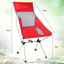 Newest colorful Outdoor Folding Chair high quanlity Portable Ultralight Collapsible Moon Leisure Camping Chair load limit 150KG(China)