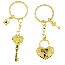 Gift Keyring Keyfob Keychain Ring Without you, Lock and key keychain 1 Pair keychains for keys Valentine's Day Couple