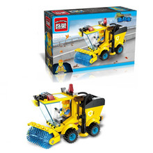 The Lowest Price In The Year !! Chinese New Year Clearance Cleaner Truck Building Blocks Toy Kit(China)
