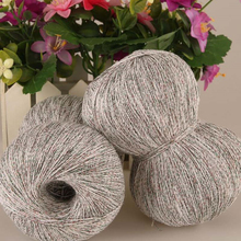 250g/Lot Linen Cotton Knitting Lace Crochet Yarn Luxury Silk Light Summer Yarn Dresses Hand Kint filati di cotone per uncinetto(China)