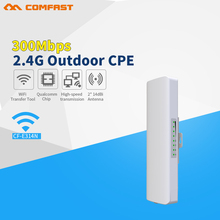 COMFAST CF-E314N 300Mbps High Power Outdoor Wireless repeater/CPE Bridge Wifi transmission/receiver 2KM with 2*14dBi antennas