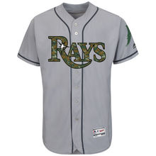MLB Men's Tampa Bay Rays Baseball Gray Fashion 2016 Memorial Day Flex Base Team Jersey(China)