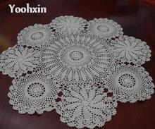 Modern Cotton Crochet tablecloths doilies tea Table cloth nappe round lace handmade Table Cover manteles for home wedding decor(China)