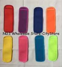 Wholesale 300pcs Popsicle Holders Pop Ice Sleeves Freezer Pop Holders 8x16cm for Kids Summer Kitchen Cookies 12 color Have Stock