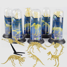 Dinosaur Figures Feature Toys Assorted Plastic Dinosaurs Fossil Skeleton Dino Figures Brain Hand Training Development Toy Gift