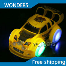 Car toy electric universal wheels can change direction  LED light with music car